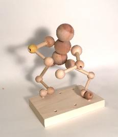 Animatable Alex wood constructed figure